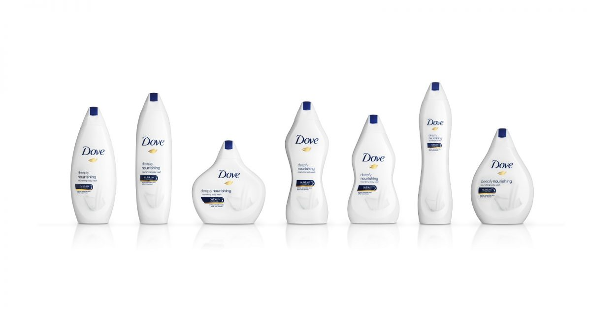 Dove Celebrates Diversity with Curvy Beauty Bottles